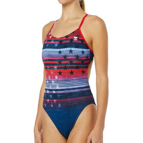 TYR Liberty Cutoutfit Uima-asu Naiset, red/white/blue